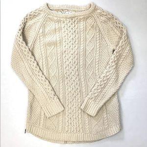 LL Bean Signature Cotton Tunic Fisherman Sweater